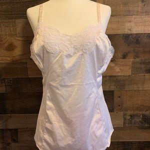 Vintage Wonder Maid white lacy chemise camisole